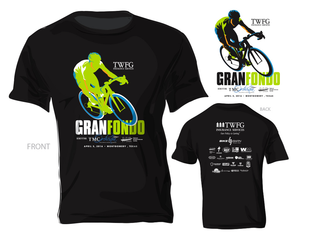TWFG Gran Fondo T-Shirt Design