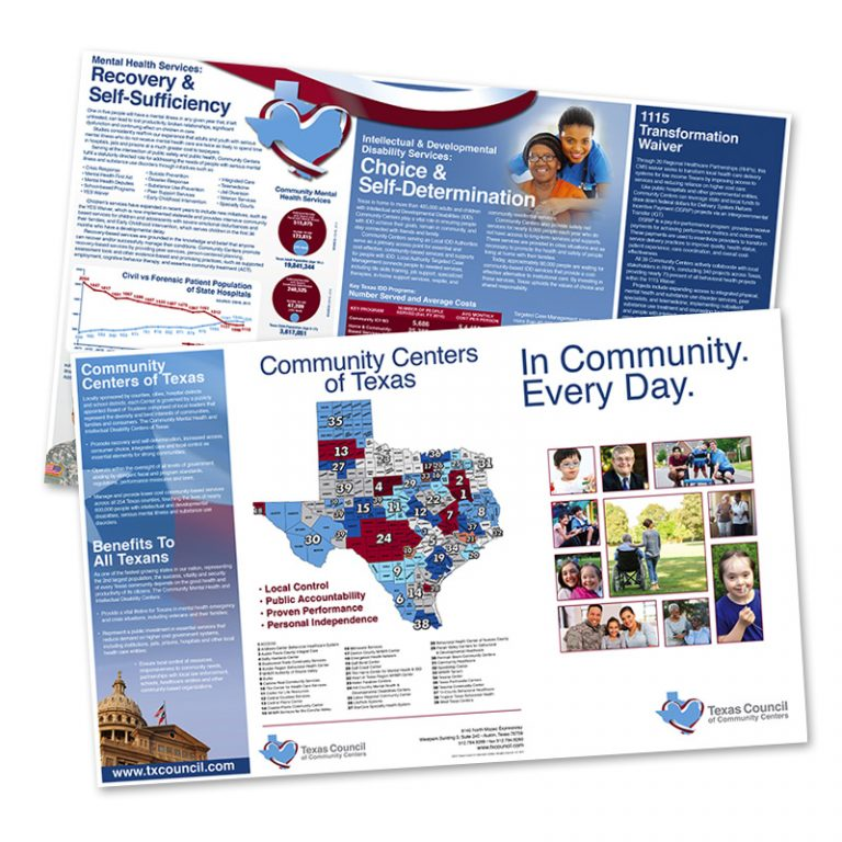 Brochure for Texas Council of Community Centers